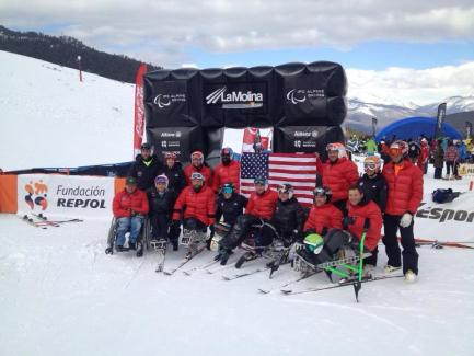 Team shot at world championships in La Molina, Spain in the finish corral