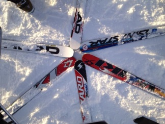 These skis go fast!